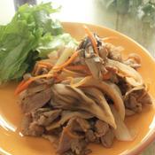 豚肉と舞茸の香味炒め