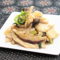 たっぷり生姜で作る。『鶏肉の生姜炒め』