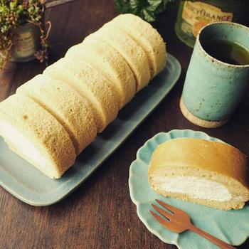 嬉しい母の日❤とふんわり優しい~♪阿波の名産和三盆ロールケーキ♪