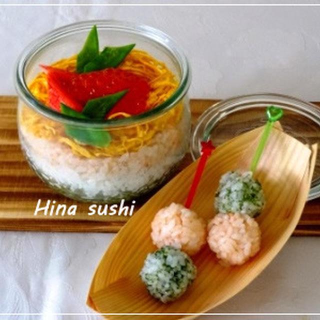 ひな祭りに・・weckで3段重ね寿司☆