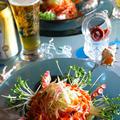 和と韓で 冥加(みょうが)とタコのビビン麺(ピビンネンミョン)ランチビールにオールフリー 簡単10分以内  冷たくって辛いよー