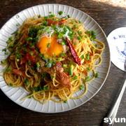 【簡単!!カフェパスタ】ごぼうとベーコンのバターしょうゆスパゲッティ