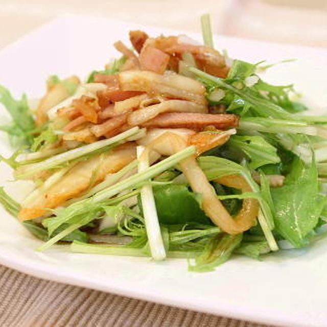 10/11/12 水菜と大根とキムチのポン酢サラダ