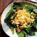 サラダほうれん草のミモザサラダ【#5分レシピ #春レシピ】