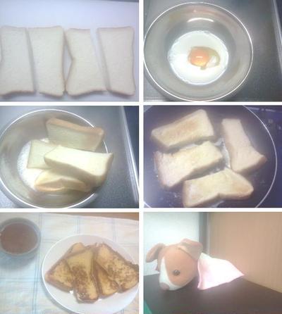冷凍食パンを使ったフレンチトースト!!