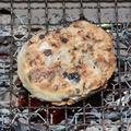 ぜんざい餅(出雲神在振る舞い餅)の炭火焼