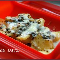 ルクエで☆チーズがとろ~りのカレーポテト(レシピ)