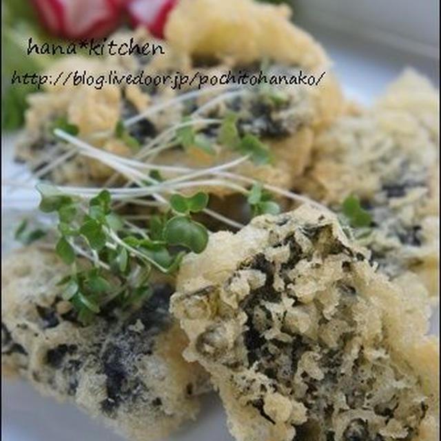 海苔巻きの鶏ささみフリット。韓国海苔pegopaさんー。