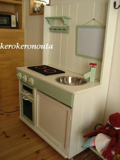 キッチン ままごとキッチン : DIY**ままごとキッチン完成 ...