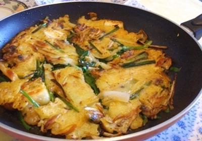 海鮮チヂミ、トッポッキで。。。韓国な夕ご飯♪