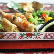 ■簡単!ヘルシー!15分【茄子とインゲンの豚肉巻き】熱風ノンフライオーブン焼きです。