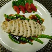 鶏胸肉のバジルソテー