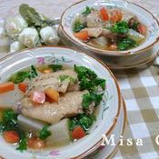 コラーゲンたっぷり手羽先と大根のスープ