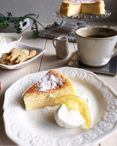 どんどん混ぜて*まったり濃厚チーズケーキ(o^^o) 子守唄。