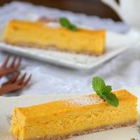 スティック♪かぼちゃのチーズケーキ。