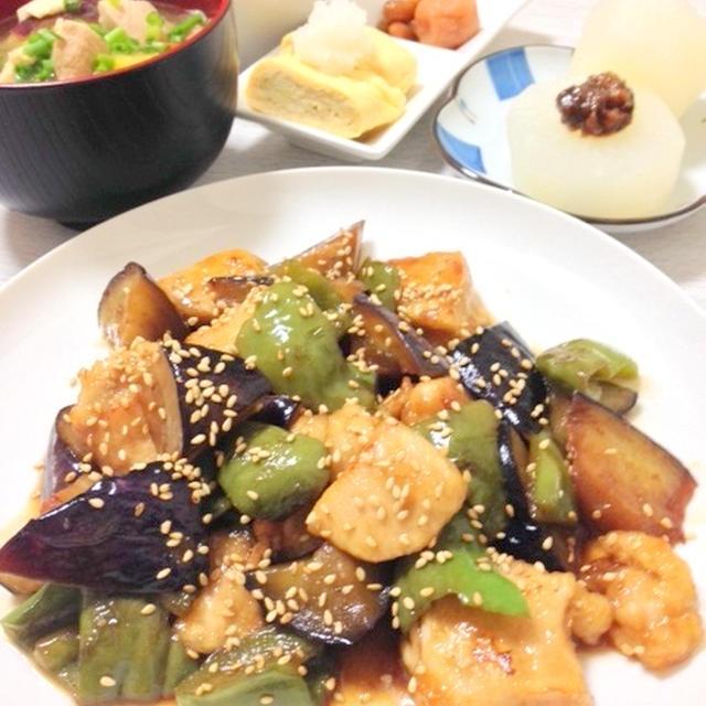 茄子と鶏肉の南蛮煮
