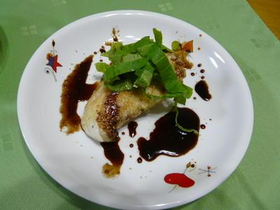 ブリのソテー・ホワイトペパー風味~バルサミコソース