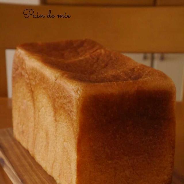 初焼きのパン・ド・ミ♪  ホップ種起こし48時間経過。