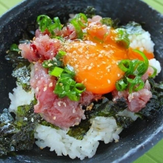 塩麹で鰹の韓国風ユッケ丼