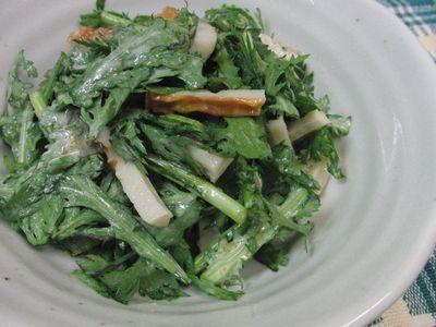春菊とちくわの柚子胡椒サラダ