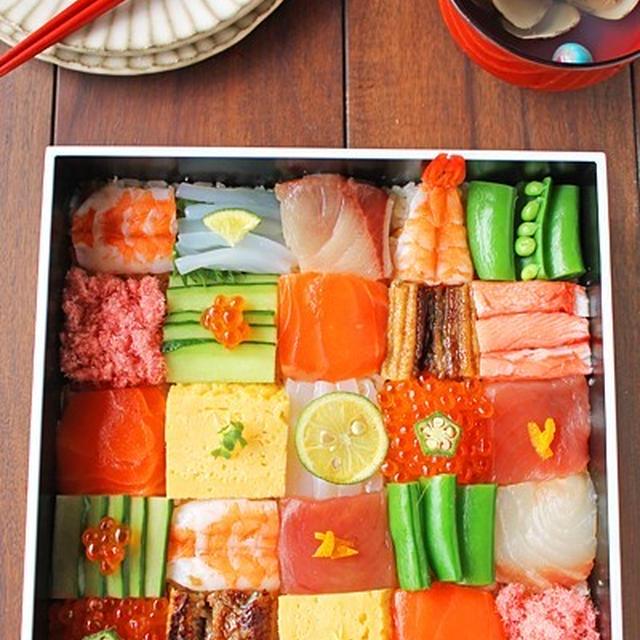 話題のカラフルモザイク寿司♪簡単ひなまつり料理