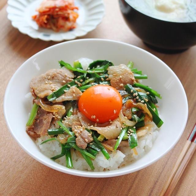 スタミナ豚丼 疲れている日の簡単レシピ