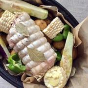 豚肉と夏野菜のポットロースト&小トラの初対面