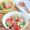 アボカドとトマトのアンチョビ風ささみサラダ by kaana57さん