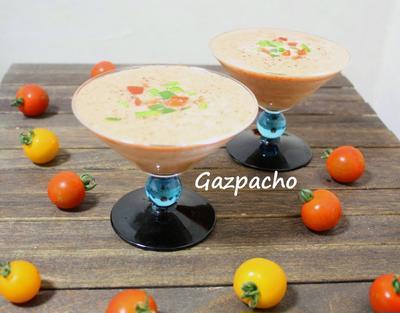プチトマトで作るガスパッチョ