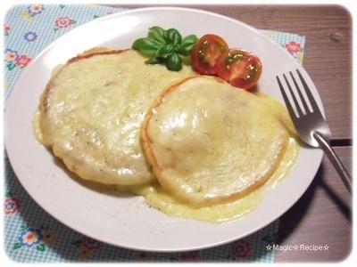 チーズたっぷりトマトパンケーキ