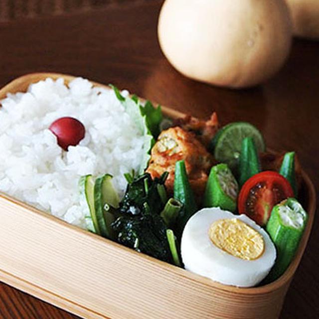 納豆とゴーヤのつくね揚げ・・お弁当♪