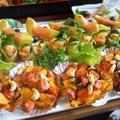 ■続・お盆のおもてなし料理【南瓜チーズベーコン焼き/サーモン胡瓜ロール/アボガドの生ハム巻きクリチークラッカー乗せ。】