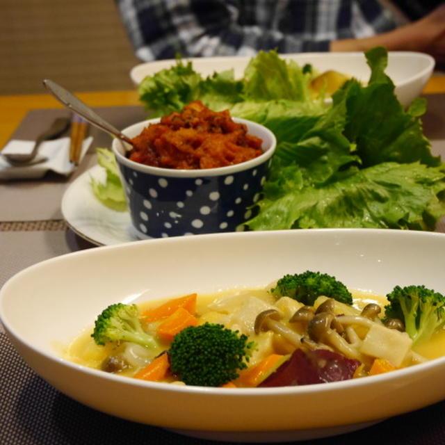 【うちレシピ】ほっこり★高野豆腐とさつまいものクリームシチュー