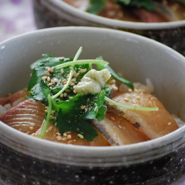 365日レシピ「カンパチの漬け丼」(1/3)
