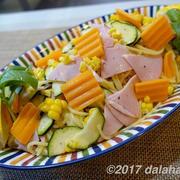 【レシピ】 ミモレットチーズと夏野菜の冷製パスタ