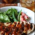 フルブラ味噌漬けの鶏胸肉ソテー 無花果みょうがソース♪