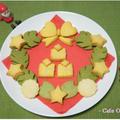 野菜パウダーで☆クリスマスリースクッキー by 杏さん
