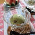 抹茶と小豆のフローズンヨーグルト♪