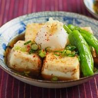 炒どうふの油で揚げない揚げ出し豆腐