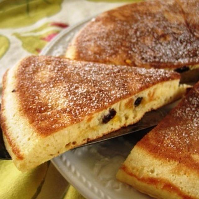 ドライマンゴーとバナナのパンケーキ