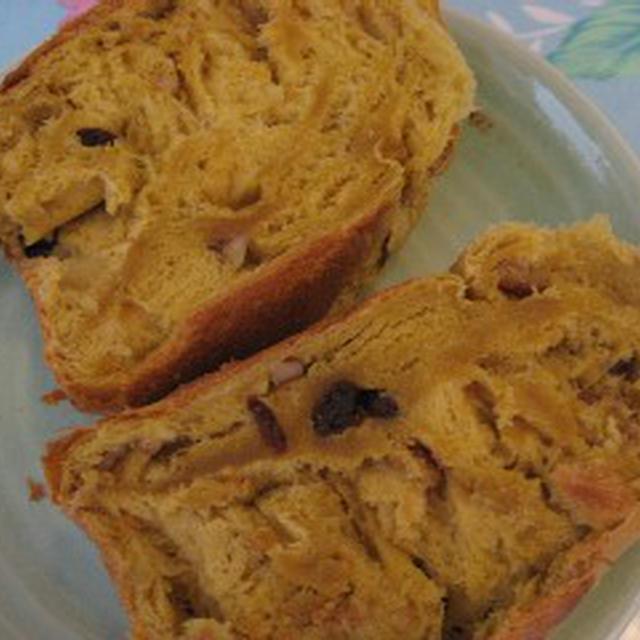 「ほっくりかぼちゃ」レーズン、くるみ入り食パン