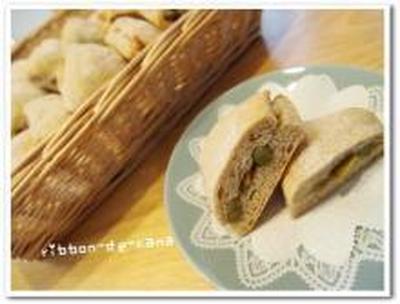 うぐいす豆とクルミのライ麦パン♪