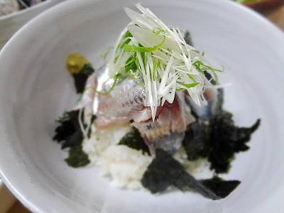 6/14の晩御飯 胡麻の香り☆イワシ丼