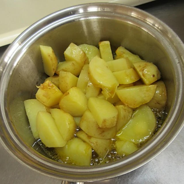 【レシピあり】揚げジャガイモのひしお味噌マリネ
