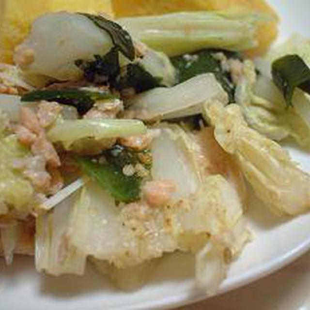 レンジだけでお惣菜〜白菜とシャケ缶煮〜