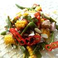 モロッコインゲンと彩り野菜のサラダ アーモンド風味