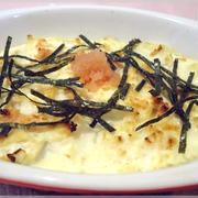 塩豆腐の明太チーズ焼き