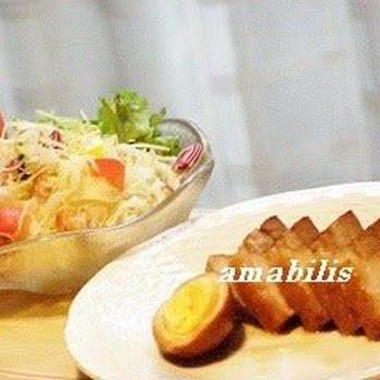 叉焼と野菜のセット