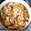 ルクルーゼで炊き込みご飯、三合炊いてみました!