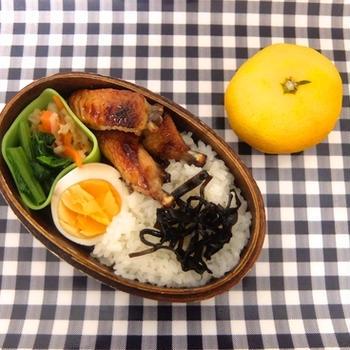 10/14 手羽中オーブン焼き弁当